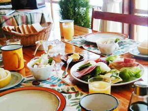 朝食も手を抜かず、準備に1時間半はかける