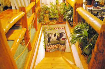 地下のAVシアターへの階段